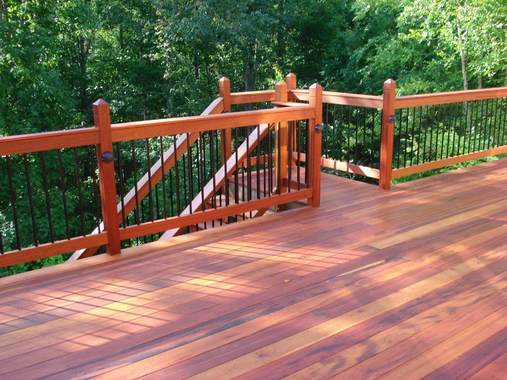 Above and beyond construction james hardie for Balcony decking